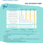Good Health Clinic 2020 Sponsorship Form